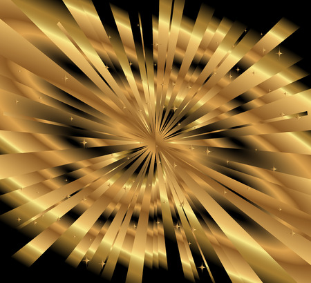 Ray gold background vector Vector