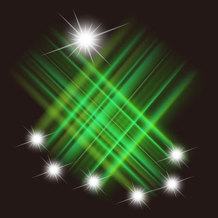 meteor shower: Vector meteor shower Illustration