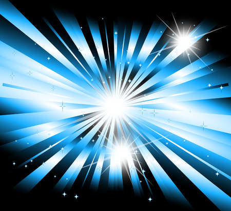 Vector star, ray with lens flare Vector
