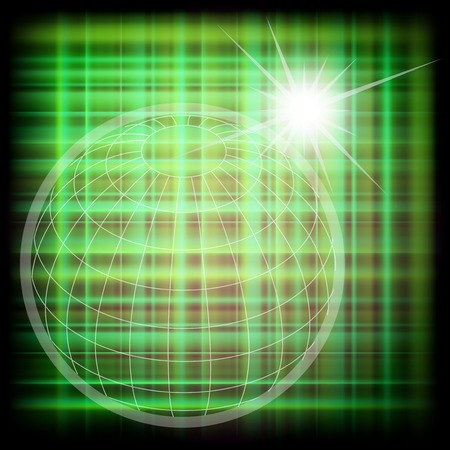 Vector world grid globe background Vector