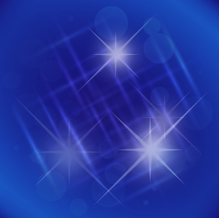 Abstract elegance blue background with star photo