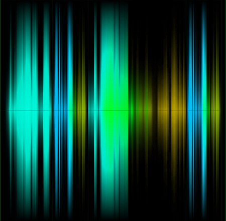 photographic effects: Blue and green abstract wave dark background Stock Photo