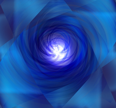 photographic effects: Blue spiral burst light background