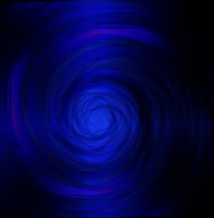Blue spiral dark light photo