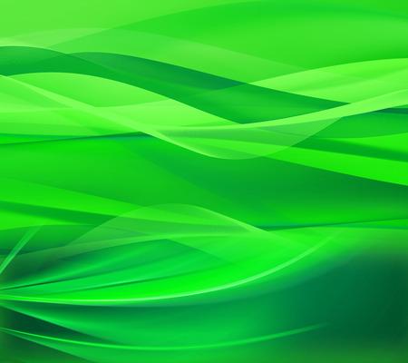 Green line wave background