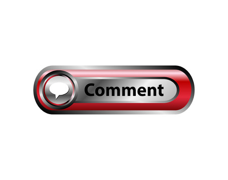 Comments button red icon vector Vector