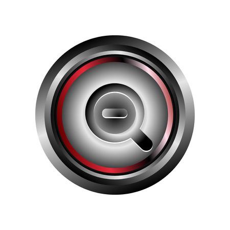 Zoom icon button vector Vector