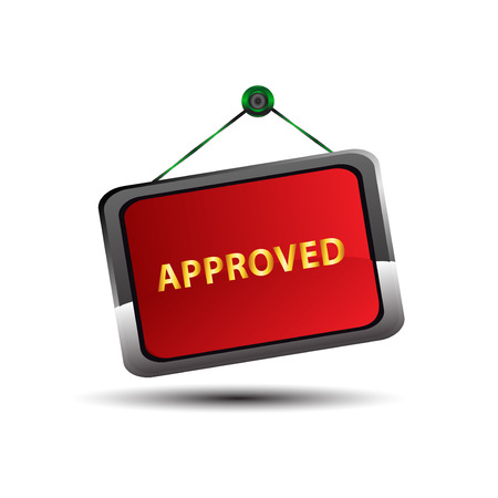 access granted: Approved icon symbol vector