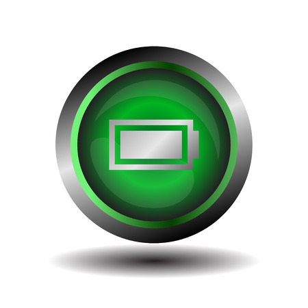 accuse: Battery icon vector Illustration