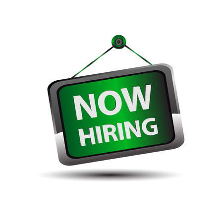 job opening: Hiring Now icon sign vector