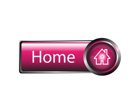 Home button design element vector Illustration