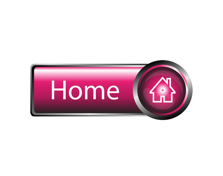 Home button design element vector Vector