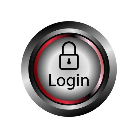 login button: Login button icon Vector