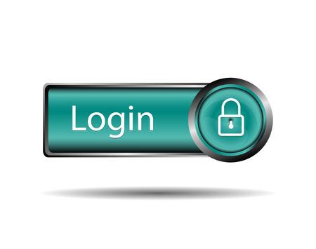 login button: Login button sign Illustration
