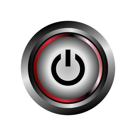 Power off icon button