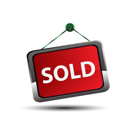 shopsign: Sold sign Vector
