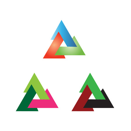 tripple: Triangle sign vector creative icon