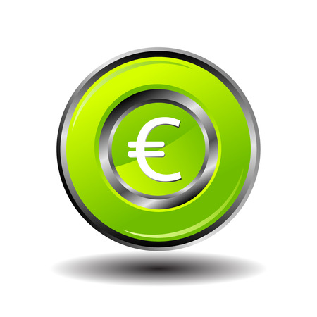 euro teken: Euro Sign pictogram vector Stock Illustratie