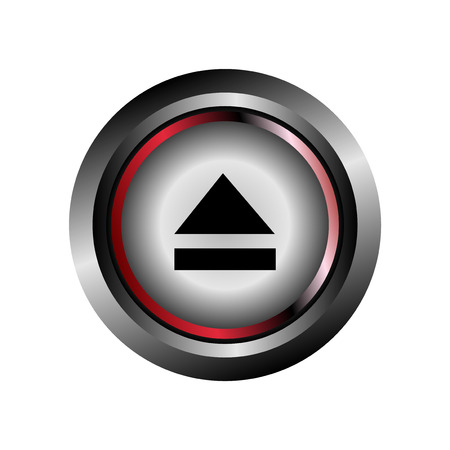 Eject button vector Vector