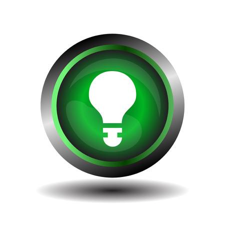 Green button bubble Vector