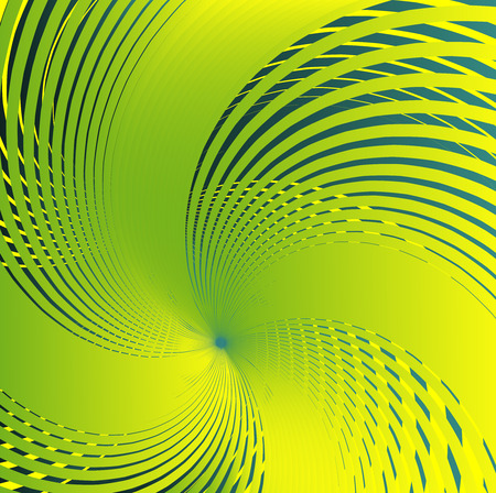 photographic effects: Abstract spiral green Background vector