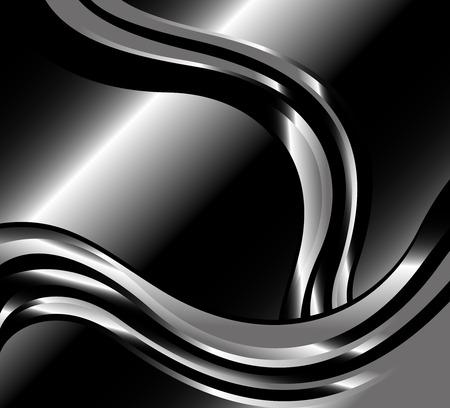 fondos negros: Resumen de metal remolino negro Fondos