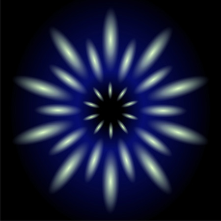 Dark blue flower light effect background photo