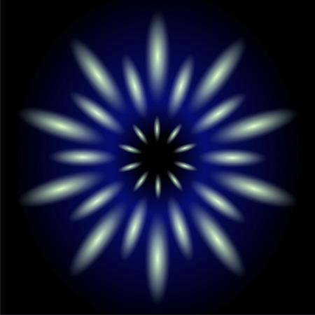 Dark blue flower light effect background photo