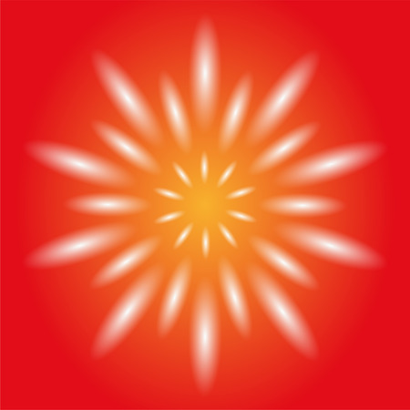 Dotted Ray Circular Light Vector Orange Background Stock Photo
