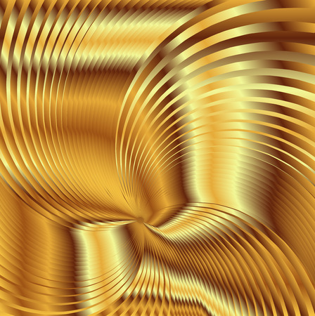 photographic effects: Golden metal Backgrounds Vector Stock Photo