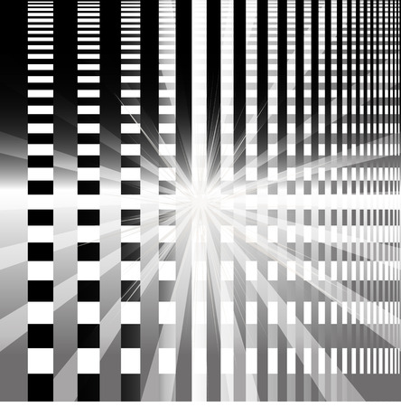 Ray circular blue light Vector black Background photo