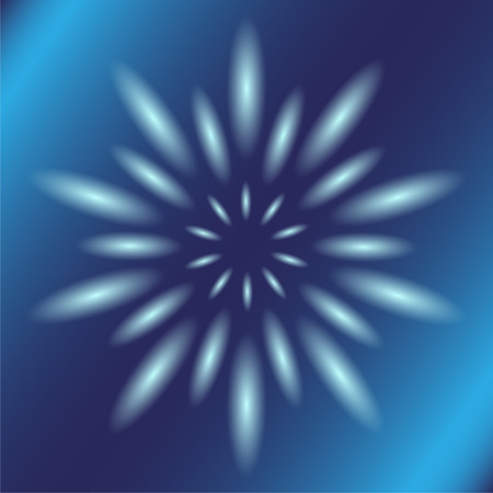 Dotted ray circular light Vector blue Background photo