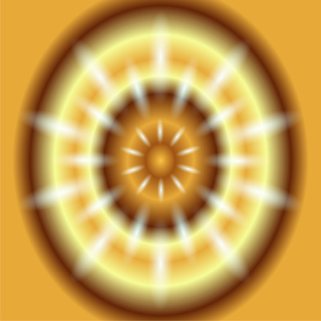 Dotted ray circular light Vector gold Background photo