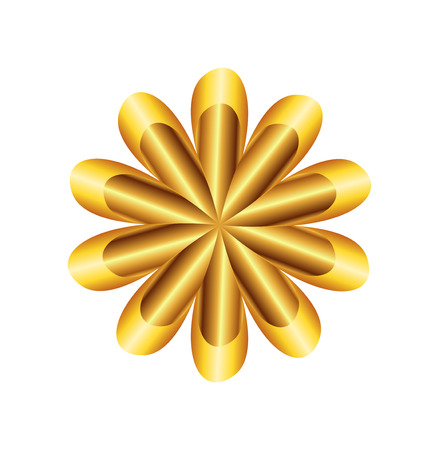 nombre d or: Golden Ratio fleur symbole circulaire