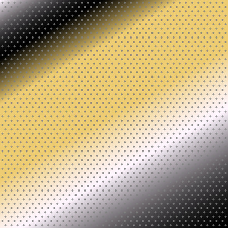 Vector halftone dots. black yellow background photo