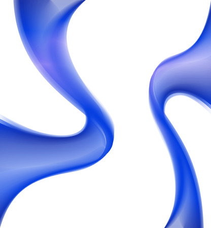 Wave Background with blue curve photo