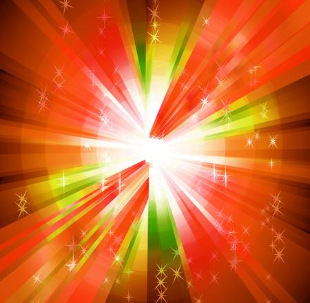 vivacity: Multicolored Sun Rays Background Stock Photo