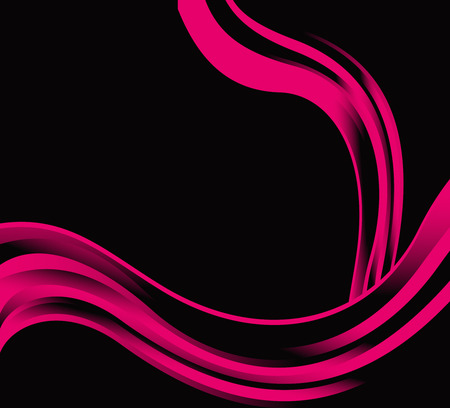 Pink abstract wave on black background photo