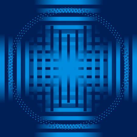 Blue stripe circle Background vector Vector