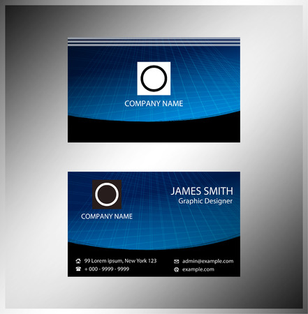 Horizontal business cards Vector