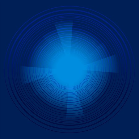 black blue: Abstract technology circles dark blue background