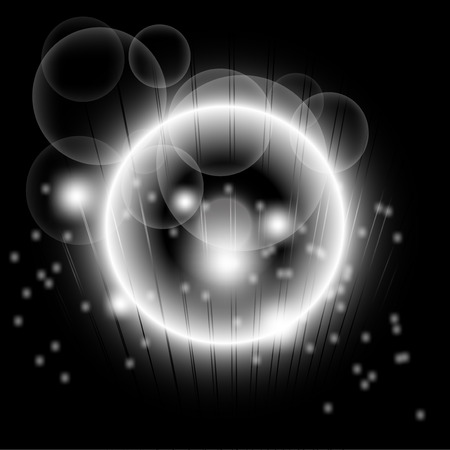 Bright abstract black lights over dot background Vector
