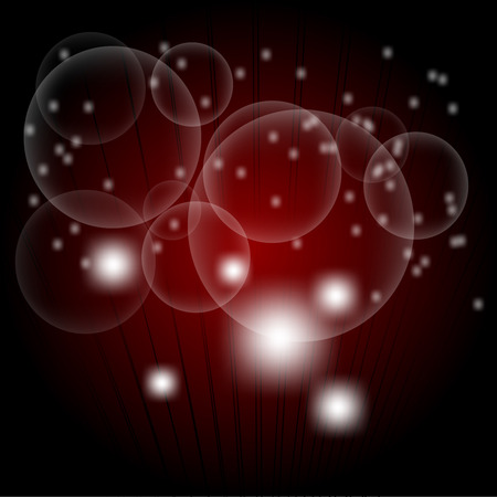 vision nocturna: Puntos de luz de fondo de color rojo oscuro abstracto Vectores