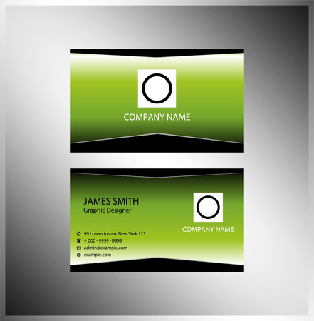 Stylish clean and simple business card template Vector