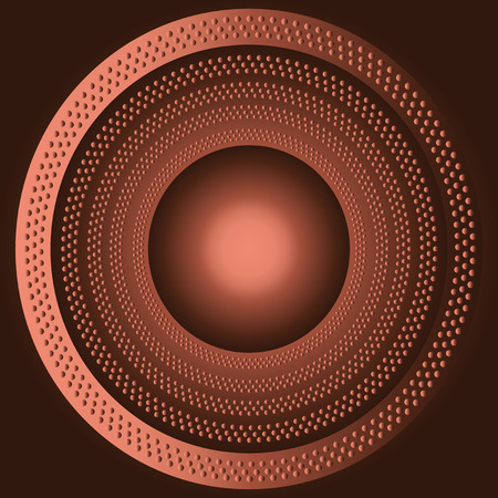 Technology brown background with circle