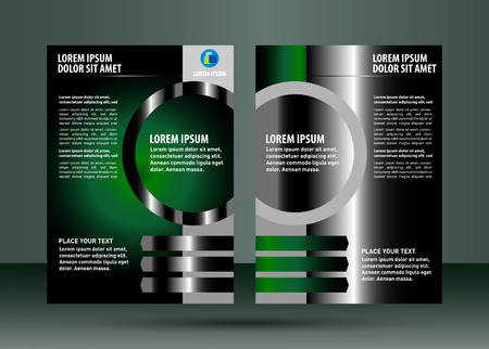 Abstract business brochure green Vector