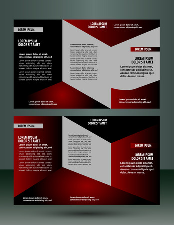 photographic effects: Brochure design layout template? vector Illustration