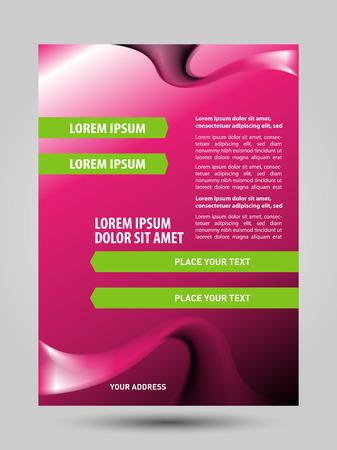 Cosmetic flyer brochure Illustration