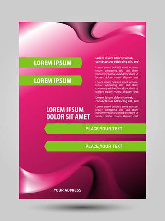 Cosmetic flyer brochure Ilustrace