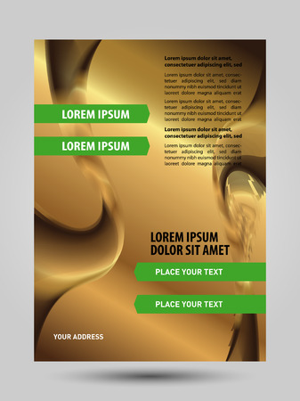 Gold business flyer background Vector